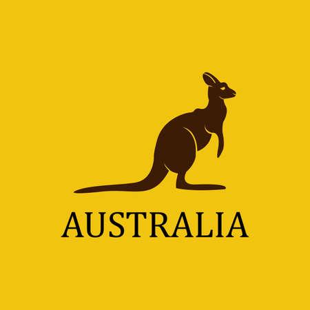 Vector australia kangaroo.