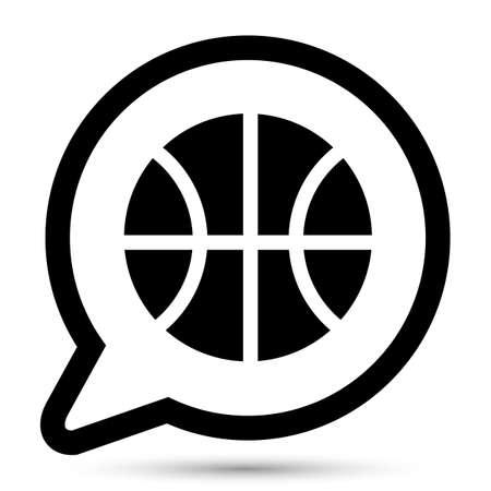 balon baloncesto: Burbuja del vector con el icono de la bola