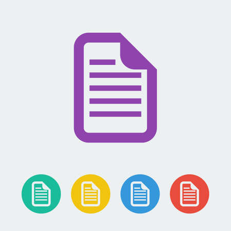 file format: Vector document flat circle icon. File format