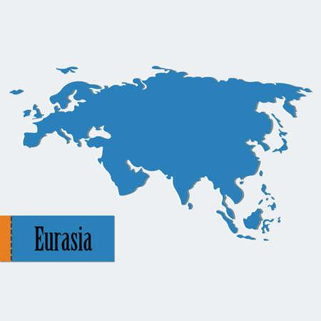 eurasia: Vector eurasia map. File format eps 10
