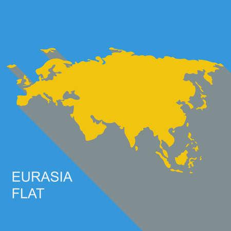 eurasia: Vector eurasia. Flat style.