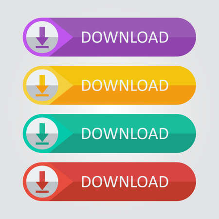 Vector flat buttons download Иллюстрация