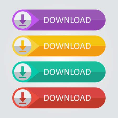 Vector platte knoppen te downloaden