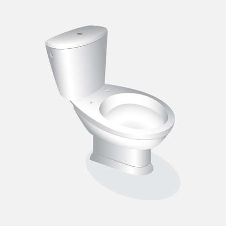 Vector toilet bowl realistic.