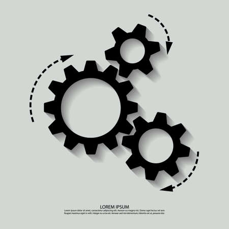 Vector mechanism black white.  Illustration