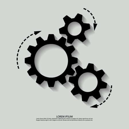 mechanism of progress: Vector mechanism black white.  Illustration