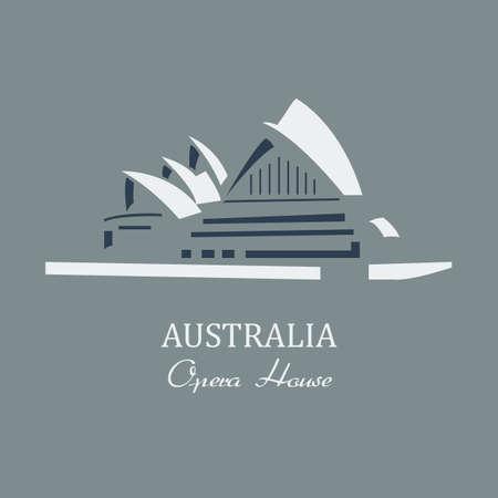 Vector  opera house sydney. File format eps 10