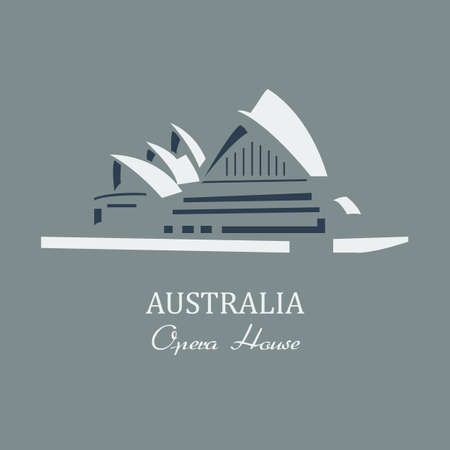 sidney: Vector  opera house sydney. File format eps 10