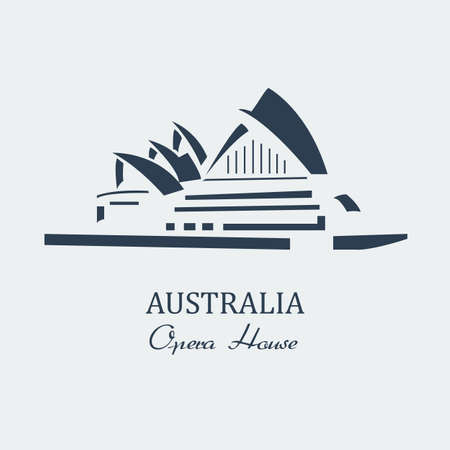 sydney skyline: Vector australia opera house sydney.