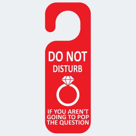 ring file: Vector hotel tag do not disturb with ring icon. File format eps 10