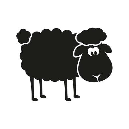 Vector sheep stencil.  Illustration