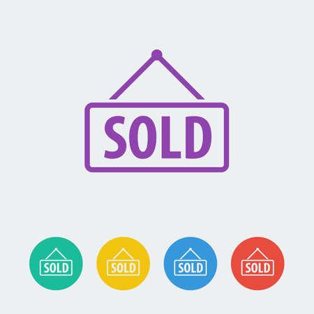 Vector sold flat circle icon. Vector