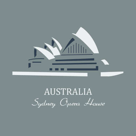 opera: Vector sydney opera house.