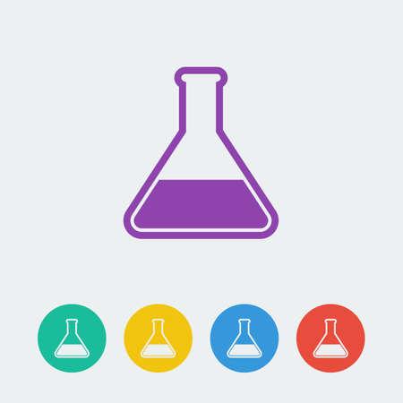 beaker: Vector icon beaker.