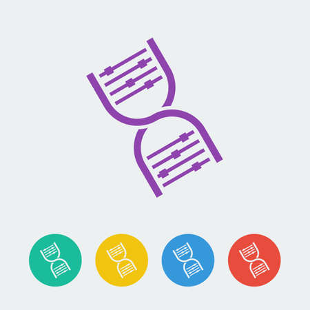 Vector dna icon.  Vector
