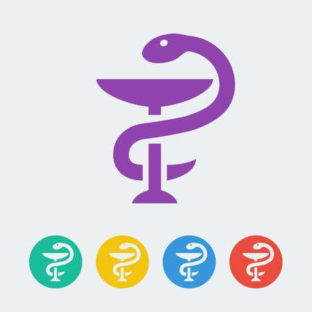 Vector pharmacy symbol.  Illustration
