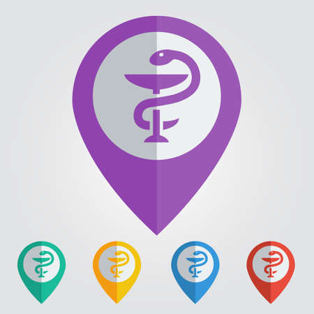 Vector pharmacy symbol.  Ilustração