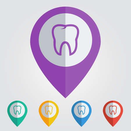 Vector tooth icon. Vector