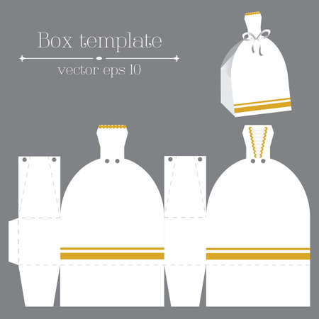 rags: Vector box template with white glad rags