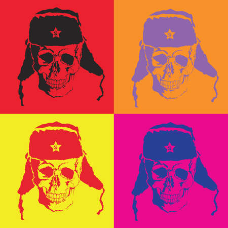 Vector skull with pop art style with format eps10. Ilustração