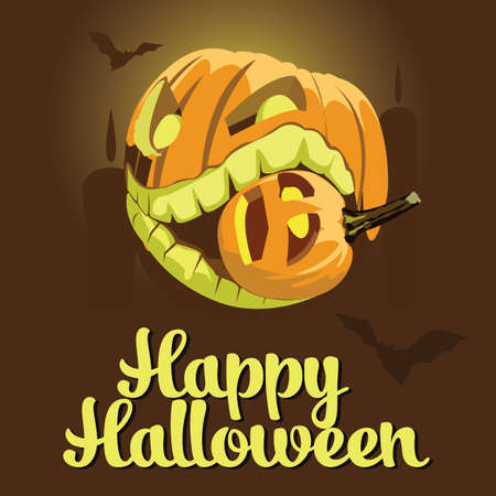 background with Halloween style with pumpkin with Format eps10. Ilustração