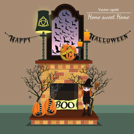 ireplace with halloween style with format eps10.