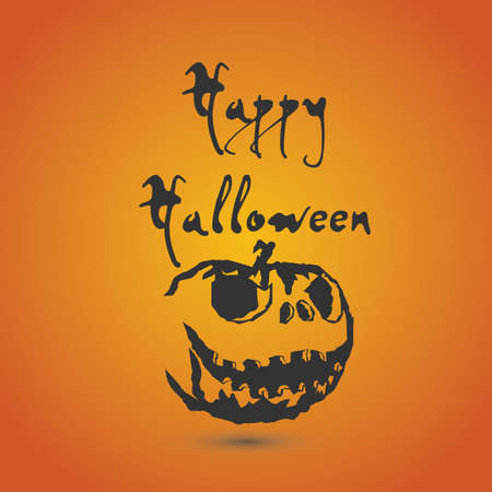 background with Halloween style with pumpkin silhouette with ormat eps10.