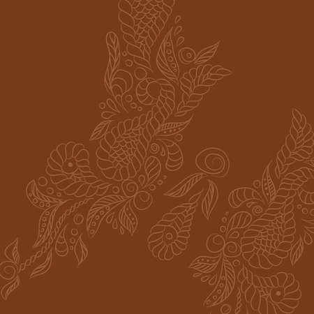 Vector background with brown buttrefly. Format eps10.