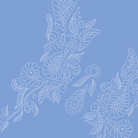 Vector background with lavender buttrefly. Format eps10.