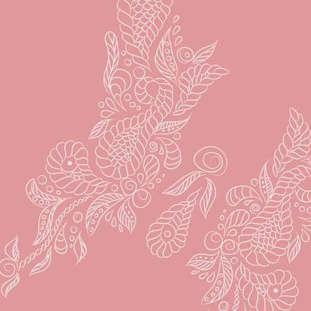Vector background with pink buttrefly. Format eps10.