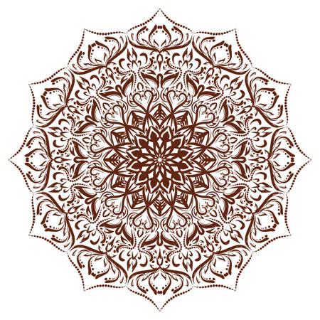 Floral mandala ornament.