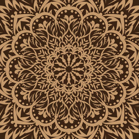 Vector background with floral ornament.