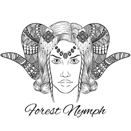Vector Forest nymph. Anti stress.