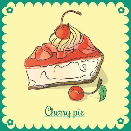Vector cherry pie.