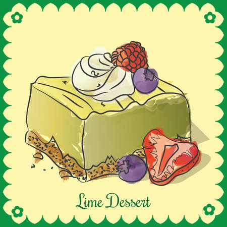 Vector lime dessert Illustration