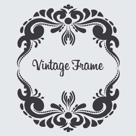 Square vintage frame.