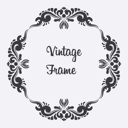 Vintage frame with floral ornament design. Ilustração