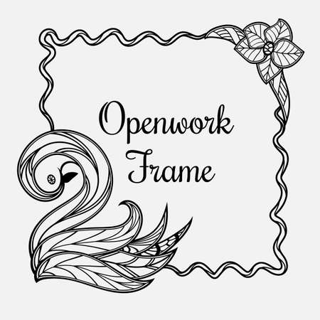 Vector frame with swan. Иллюстрация
