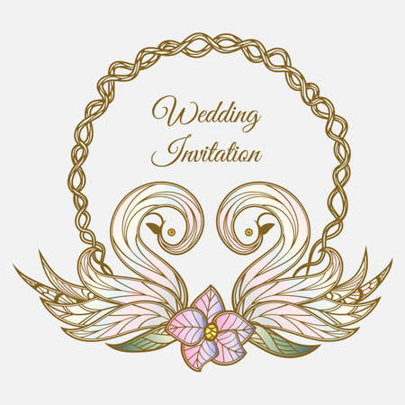 A vector color wedding invitation.
