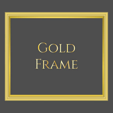 Vector gold frame on black background with format eps10 Imagens - 106231215