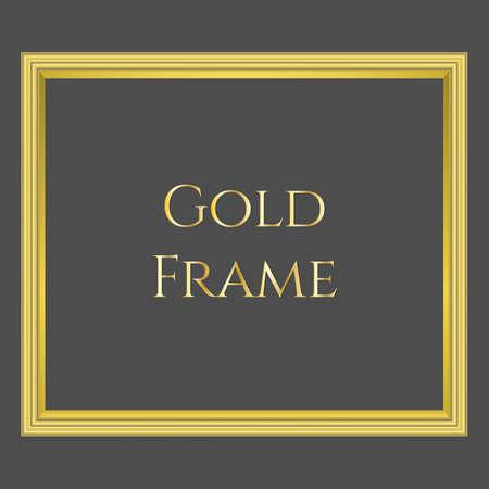 Vector gold frame on black background with format eps10 Ilustração