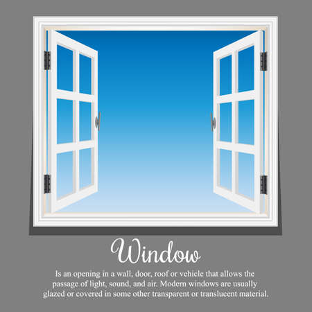 Vector window architecture blue sky with format eps10 Иллюстрация