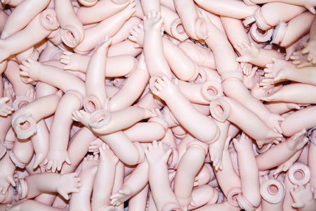 Doll Body Parts 스톡 콘텐츠
