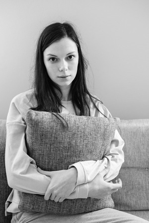 eyesclosed: Lonely depressed woman at home