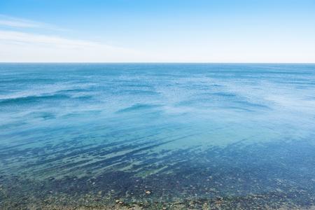 Horizon line - between sky and water Stock Photo