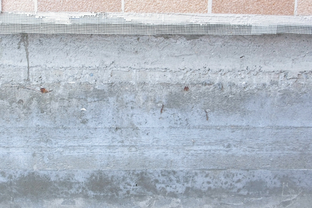 Tape Concrete Foundation of a country private house.