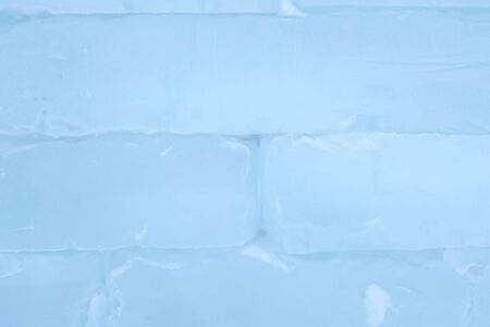 Ice brick wall texture using as background, close-up view Imagens