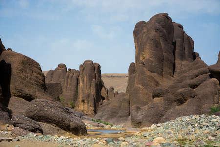 Rocks at Gorges de Tislit canyon in Morocco Antiatlas mountains 写真素材