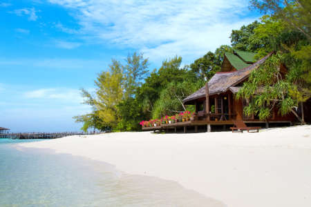 bungalow: Beautiful bungalow on a tropical paradise island