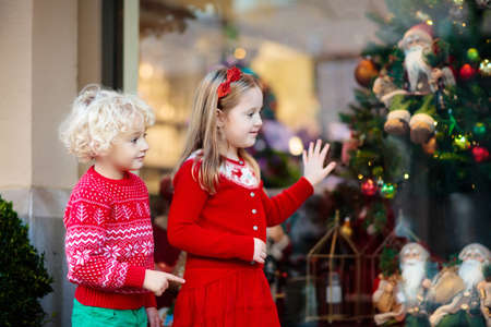 Kids shopping for Christmas presents